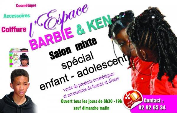 Clin d'oeil coiffure Barbie et Ken / Barbie et Maman
